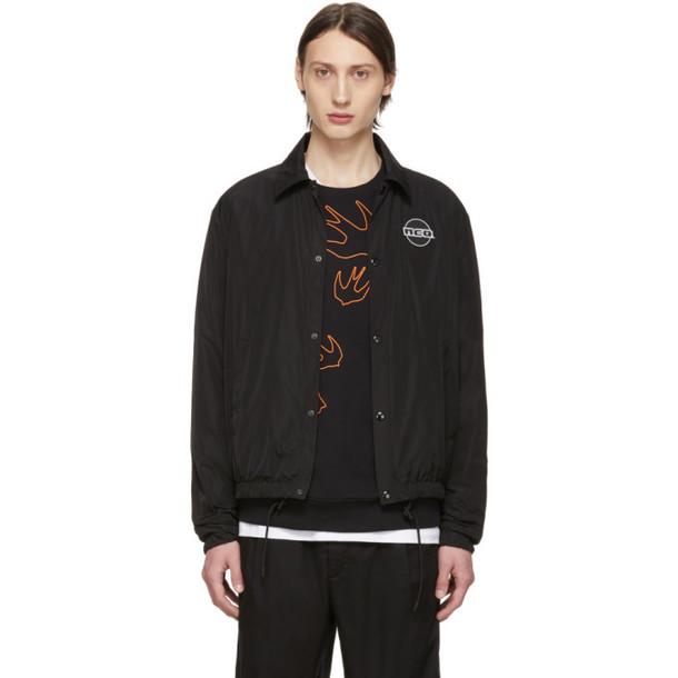 McQ Alexander McQueen Black Windcheater Jacket