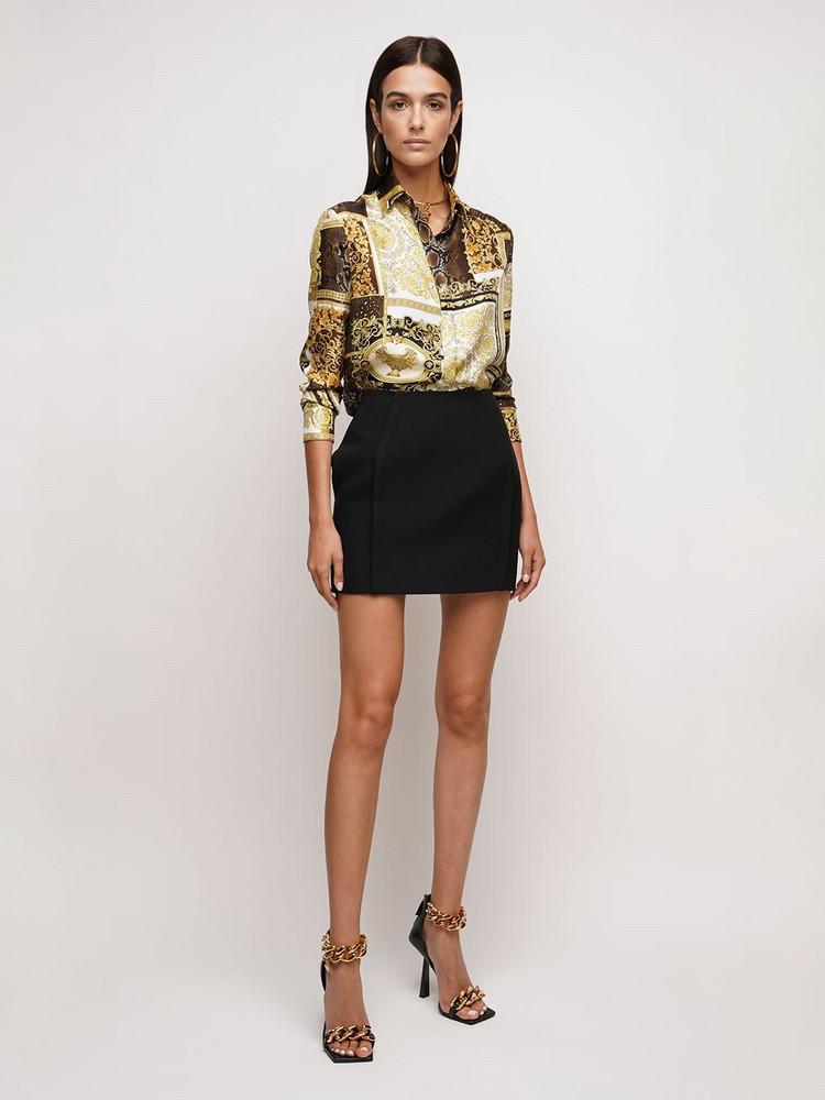 VERSACE Techno Granite Mini Skirt in black