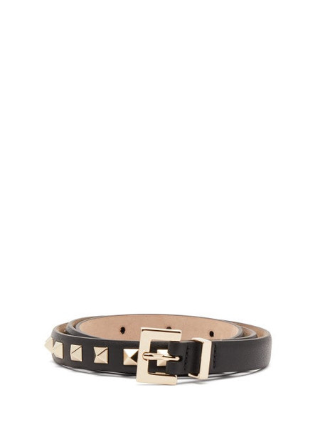 Valentino - Rockstud Leather Belt - Womens - Black
