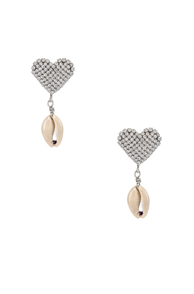 DANNIJO Playa Earring in metallic / silver