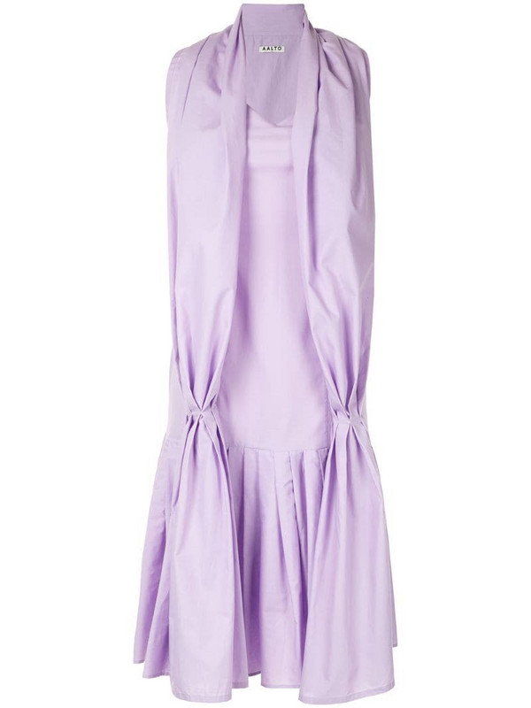Aalto dress with scarf detail in purple