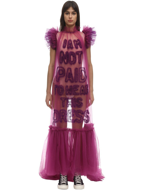 VIKTOR & ROLF I Am Not Paid Tulle Maxi Dress in purple