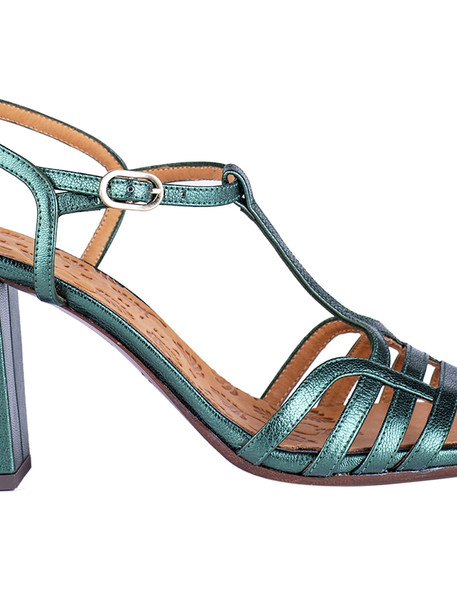 Chie Mihara High-block Heel Sandals in green