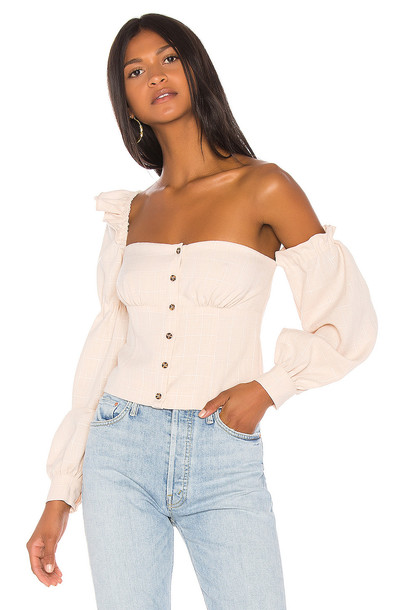 Song of Style Emery Top in beige