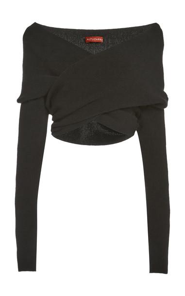 Altuzarra Virginia Wool-Cashmere Sweater in black