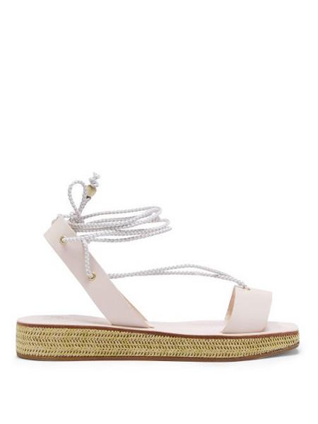 Álvaro Álvaro - X Thierry Colson Wicker Flatform Sandals - Womens - Cream