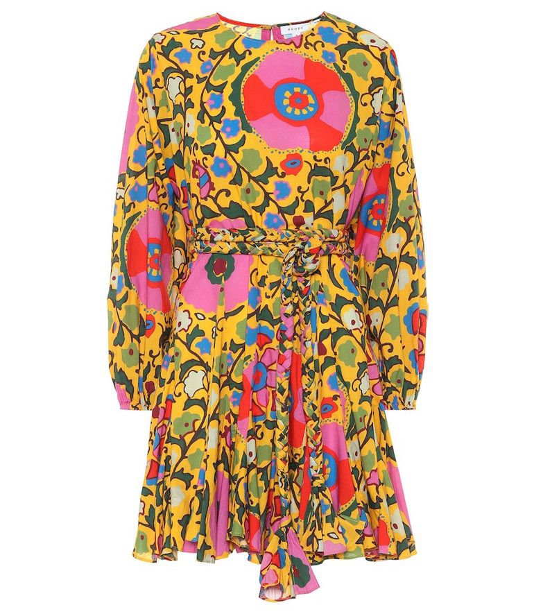 RHODE Exclusive to Mytheresa – Ella floral cotton minidress in yellow