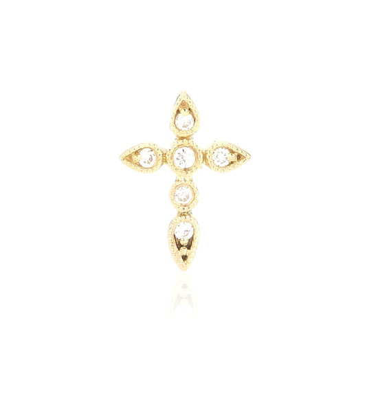 Stone Paris Céleste diamond and gold earring