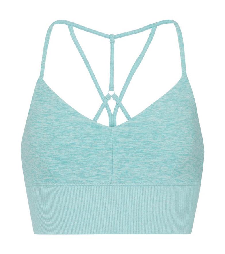Alo Yoga Alosoft Lavish sports bra in blue