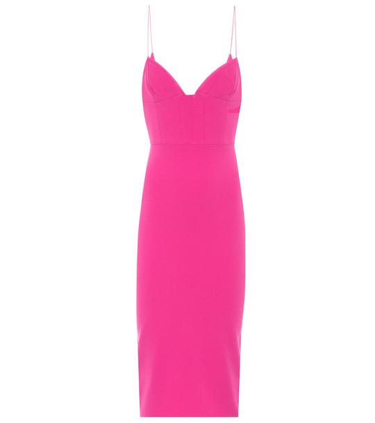 Alex Perry Mercer crêpe dress in pink