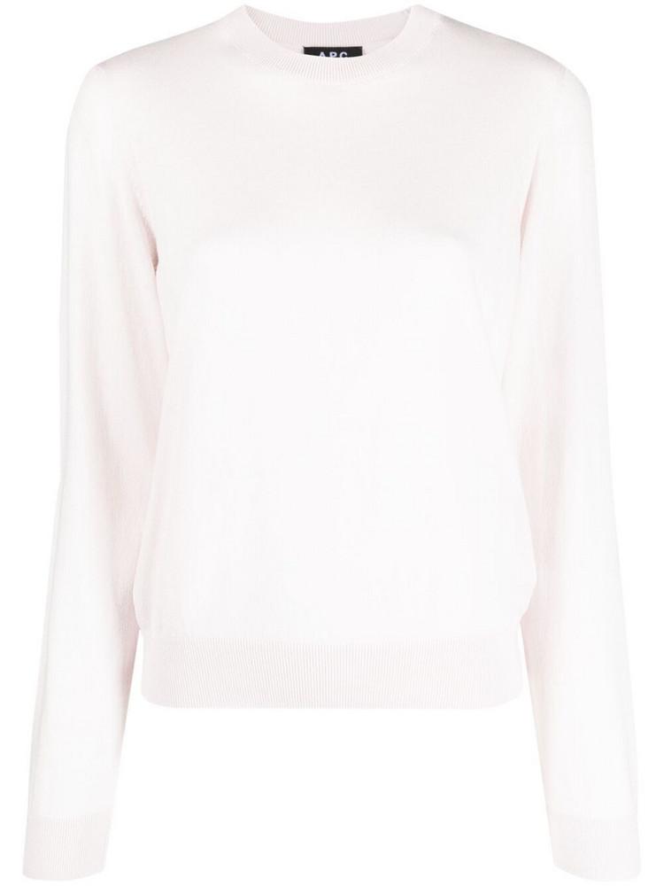 A.P.C. A.P.C. fine knit crewneck jumper - Pink
