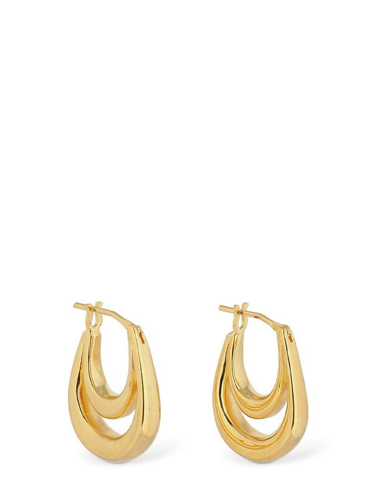 SOPHIE BUHAI Small Blanche Hoop Earrings in gold