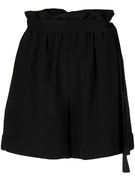 Federica Tosi high waisted belted shorts in black