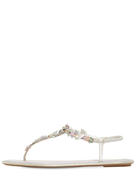 RENÉ CAOVILLA 10mm Embellished Thong Sandals in lilac / multi