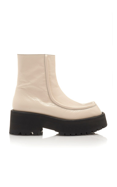 Marni Combat Boots Size: 39.5 in white