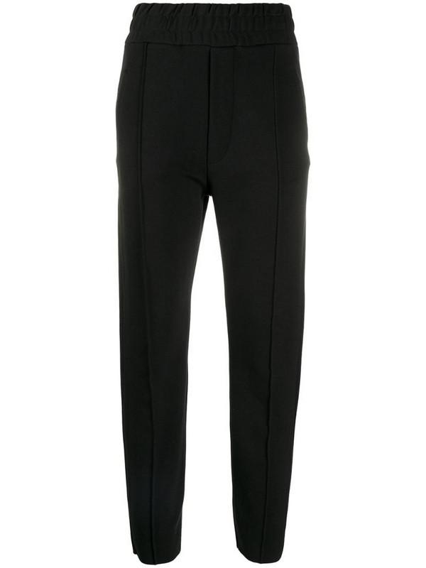 Thom Krom pleat detail slim-fit cropped trousers in black