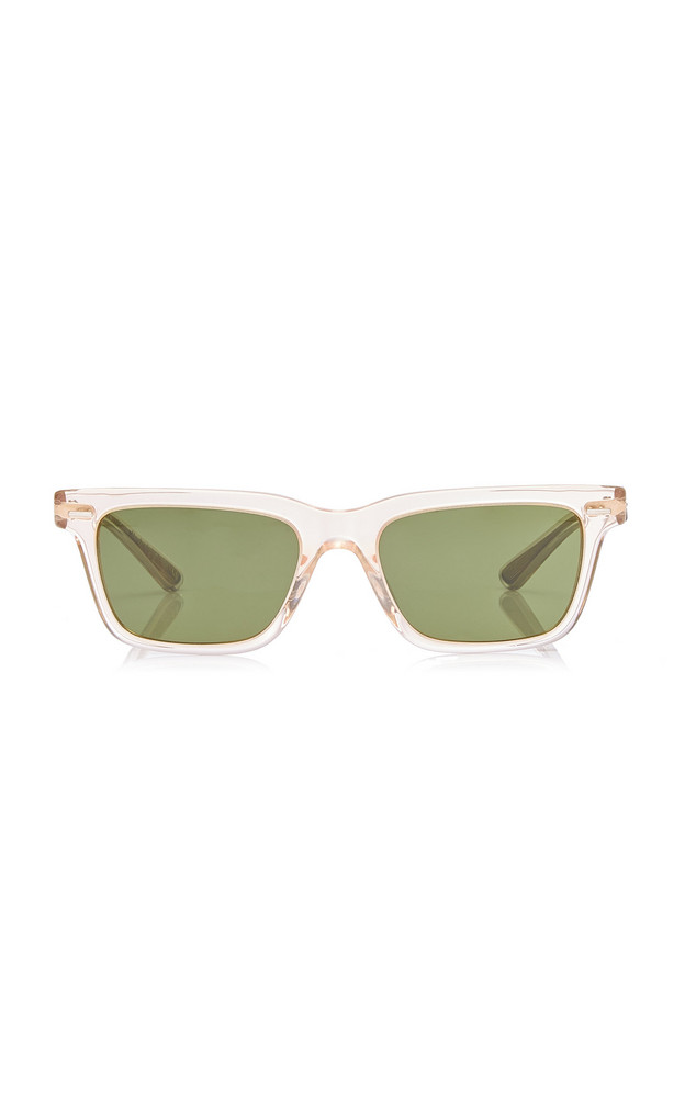 Oliver Peoples THE ROW BA Square-Frame Acetate Sunglasses in neutral
