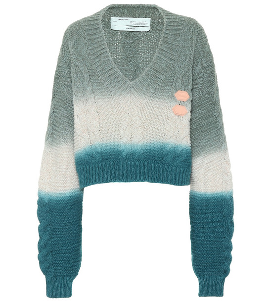 Off-White Wool and cashmere sweater
