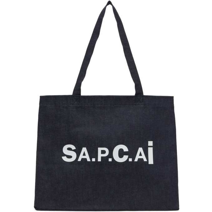 A.P.C. A.P.C. Reversible Navy Sacai Edition Candy Tote