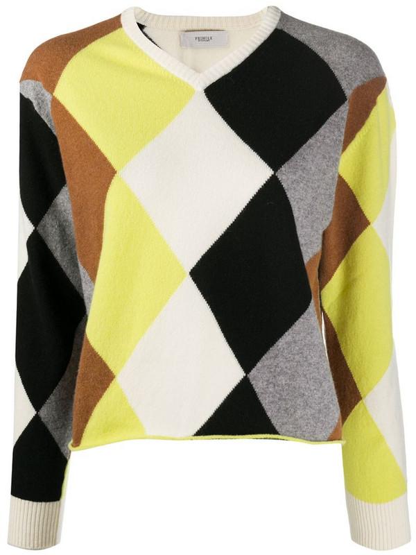 Pringle of Scotland Argyle long-sleeve jumper in grey