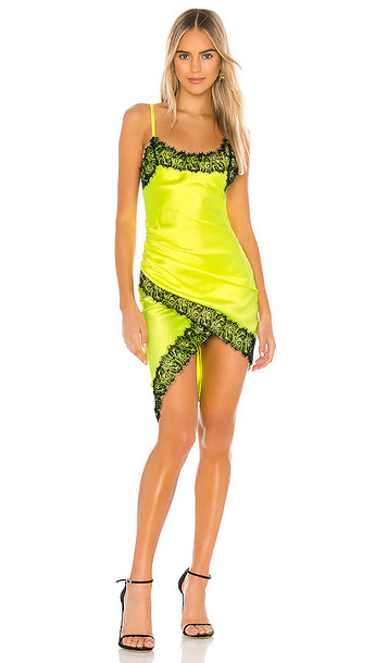 NBD Lipa Slip Dress in Yellow