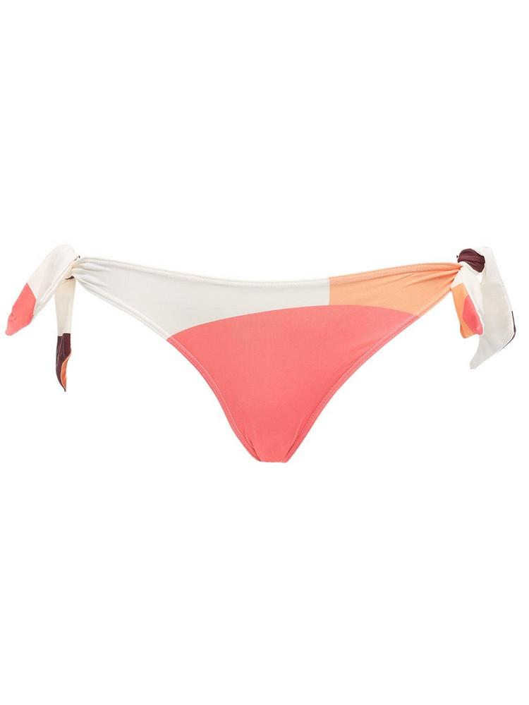 PAPER LONDON Carla Lycra Bikini Bottoms in pink / multi
