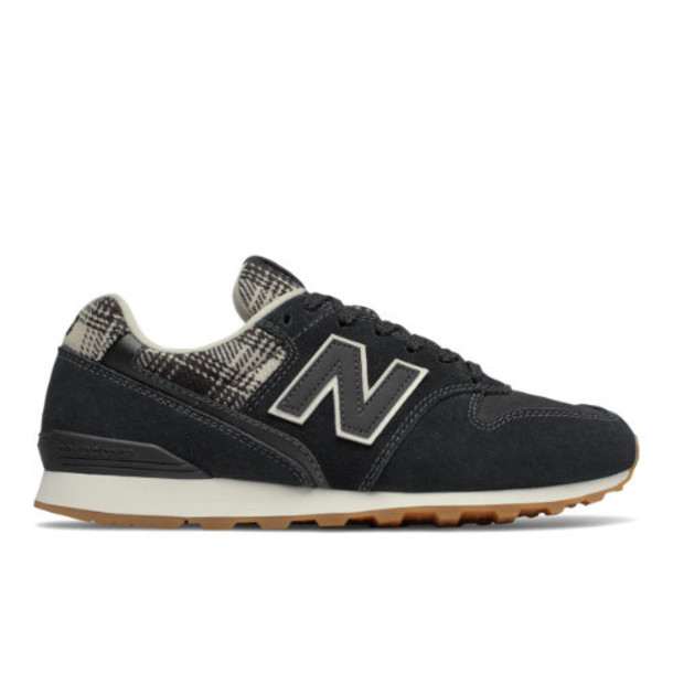 New Balance 996 Women's Running Classics Shoes - Black/Tan (WL996CH)
