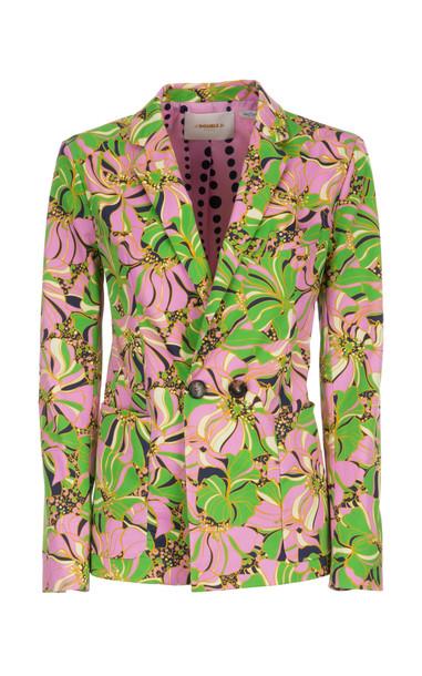 La DoubleJ Printed Cotton-Blend Blazer Size: XL