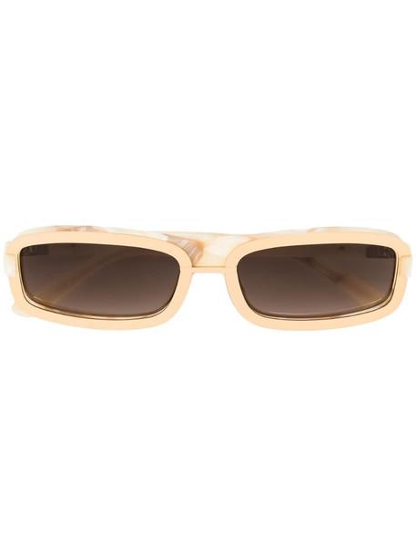 Linda Farrow marble print sunglasses in gold