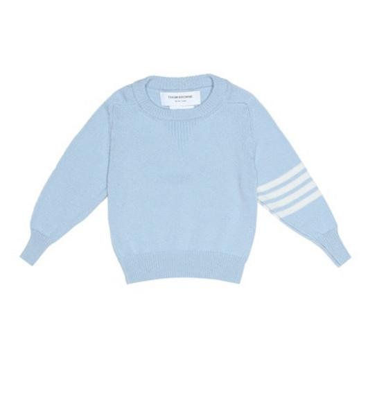 Thom Browne Kids Cashmere sweater in blue