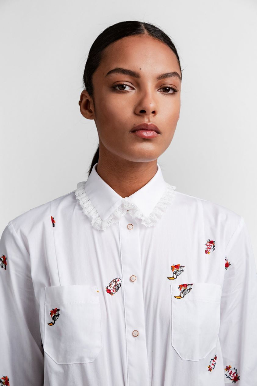 Dori shirt in pirate embroideries | Heimstone