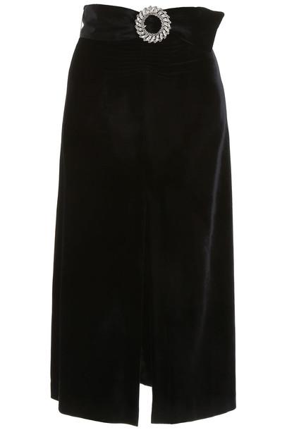 Miu Miu Velvet Midi Dress in black