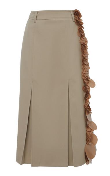 Prada Paillette Embellished Wool Midi Skirt in grey