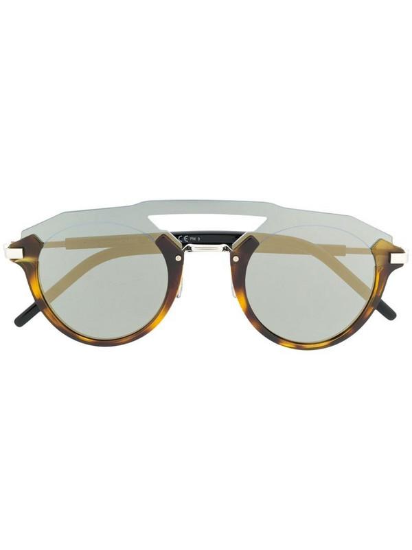 Dior Eyewear Futuristic round-frame sunglasses in brown