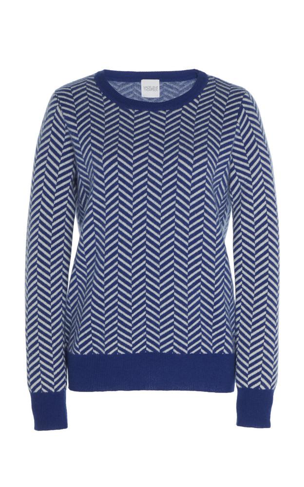 Madeleine Thompson Aeolus Herringbone Cashmere And Wool-Knit Sweater in multi