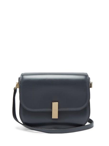 Valextra - Iside Cross Body Leather Bag - Womens - Dark Grey