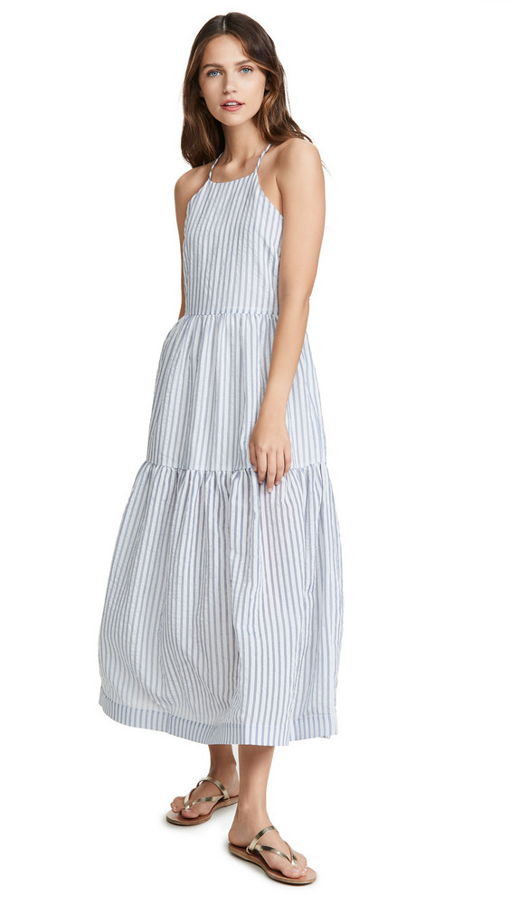endless rose Striped Maxi Dress in blue