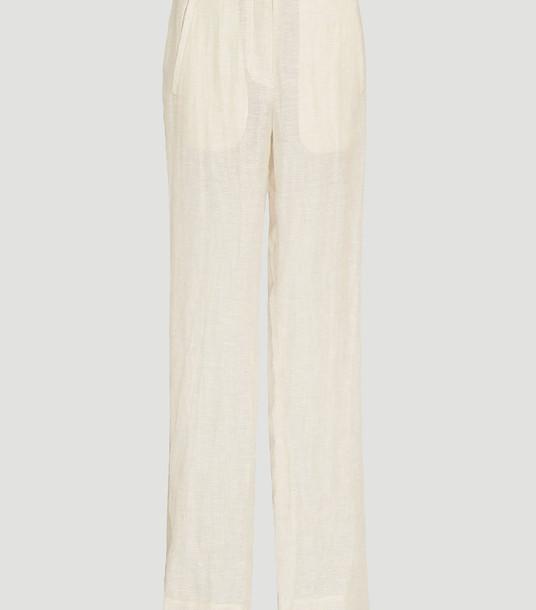 Rejina Pyo Pants Women - Norma Pants Beige 100% Linen. Dry clean. UK - 10