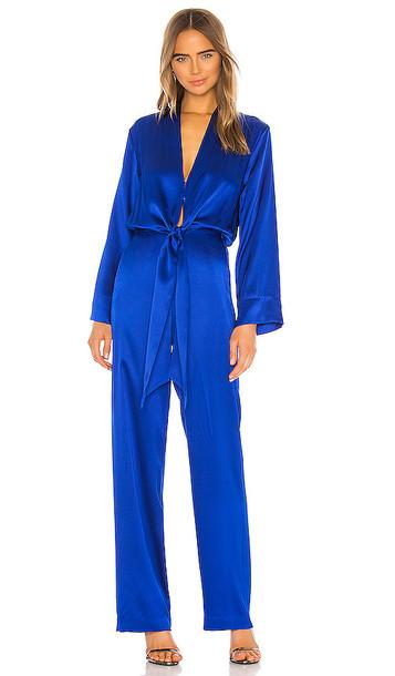 Michelle Mason x REVOLVE Kimono Tie Jumpsuit in Blue