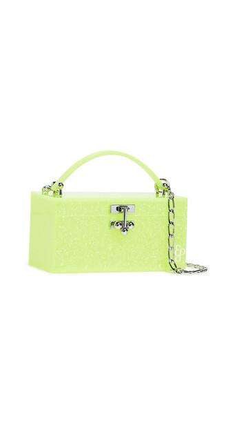 Edie Parker Mini Trunk Clutch in yellow