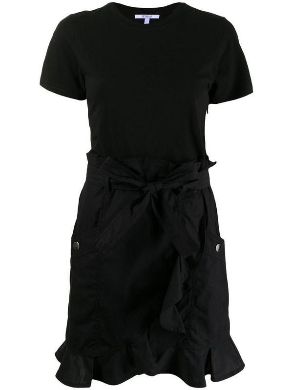 Derek Lam 10 Crosby belted mini dress in black