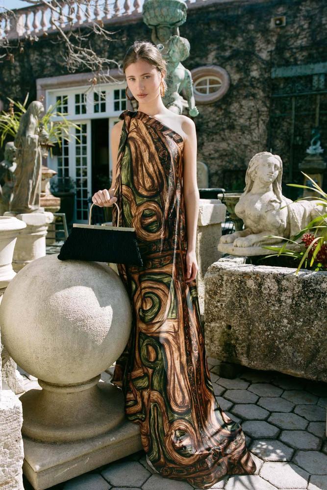 Cult Gaia Florence Dress - Mahogany Multi                                                                                               $998.00