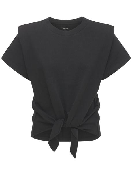 ISABEL MARANT Zelito Cotton Jersey T-shirt in black