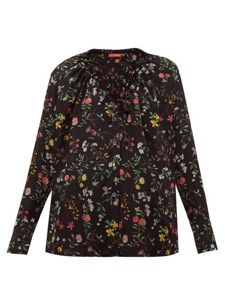Altuzarra - Bowie Floral Print Silk Blouse - Womens - Black Print