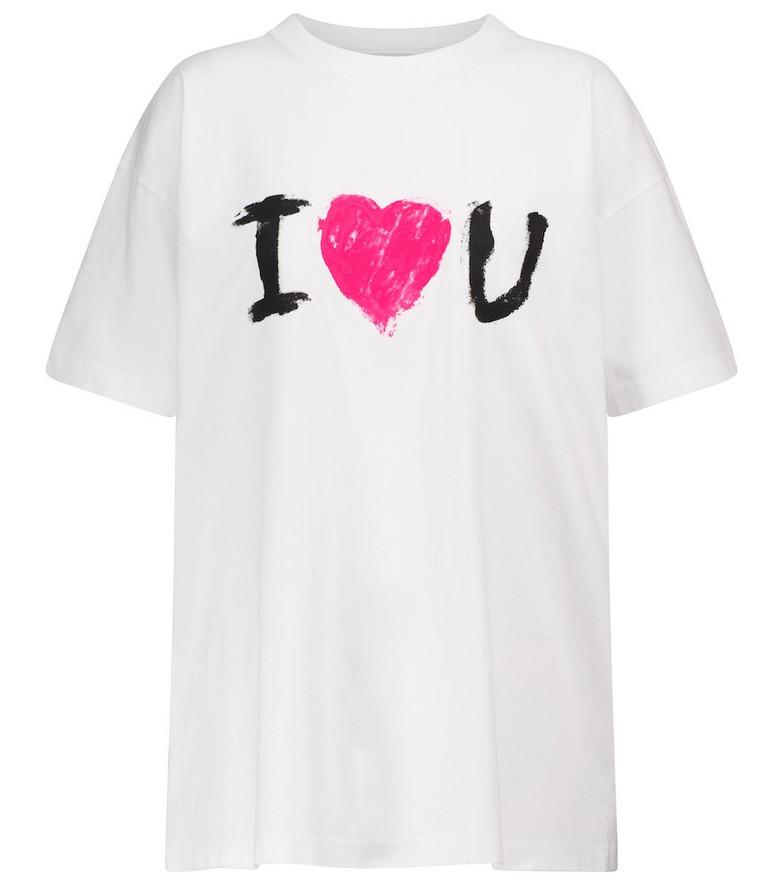 Balenciaga Cotton T-shirt in white