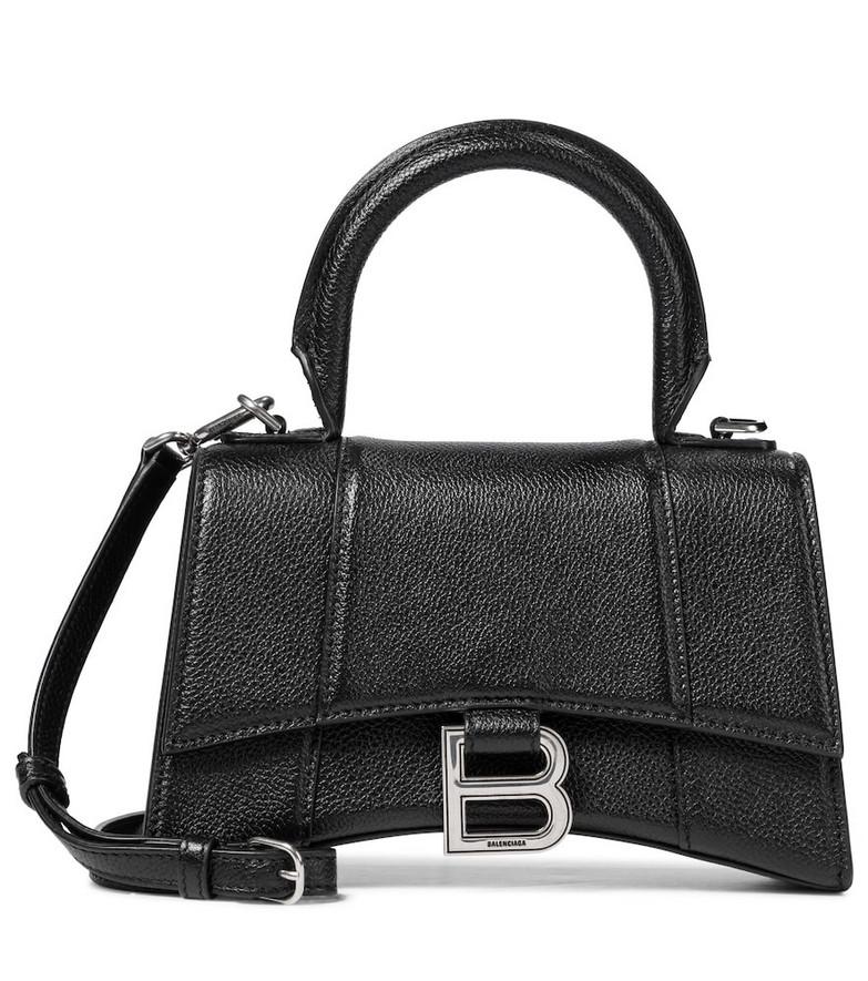 Balenciaga Hourglass XS leather tote in black