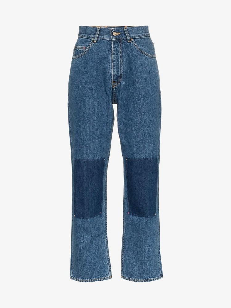 Golden Goose Deluxe Brand Golden Goose 'Komo' high-waisted panel detail jeans in blue