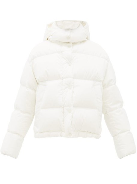 Moncler - Onia Quilted Down Cotton Hooded Jacket - Womens - White