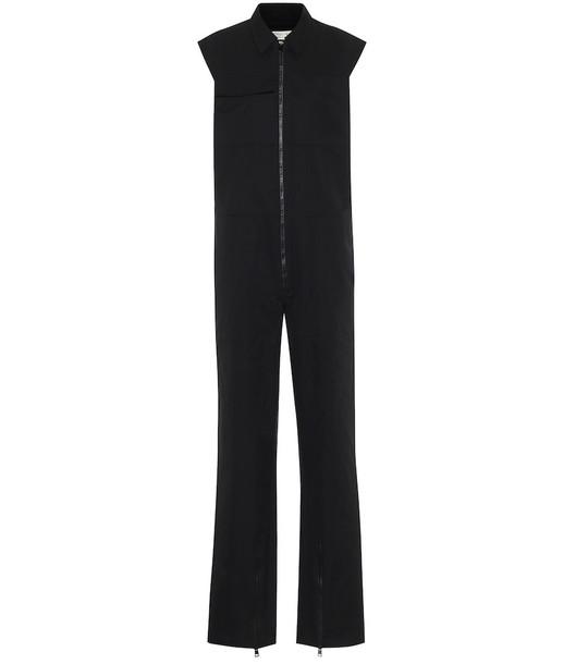 Bottega Veneta Cotton jumpsuit in black