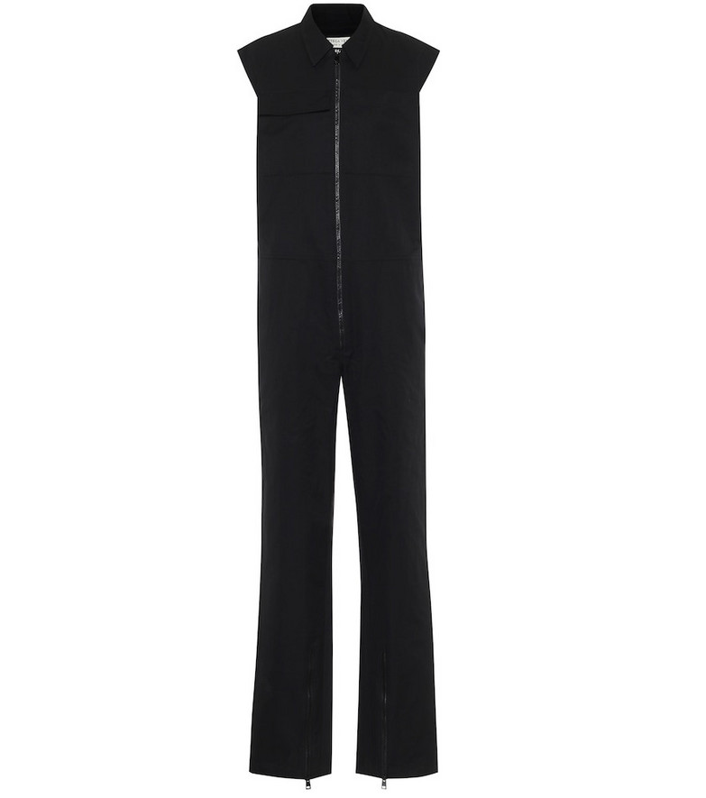 Bottega Veneta Cotton jumpsuit in black
